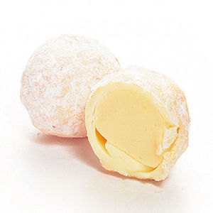 Peachy Peaches And Cream Dusted Truffles - wedding favours