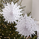 Two Pack Christmas Snowflake Tissue Paper Decorations