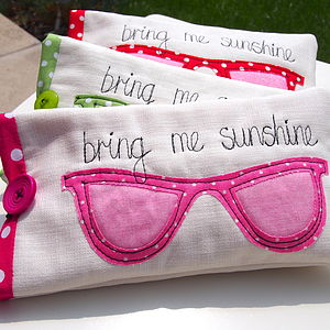 'Bring Me Sunshine' Handmade Sunglasses Case - travel accessories for women