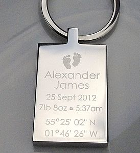 Personalised Birth Celebration Keyring - keyrings