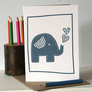 Trumpety Trunk Blank Letter Press Card