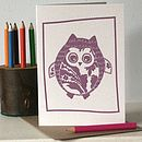 Hootie McTootie Owl Blank Letter Press Card