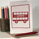 London Bus Blank Letter Press Card