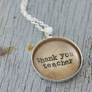 Personalised Teacher Necklace
