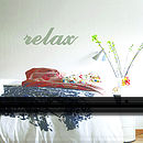 'Relax' Wooden Word Wall Art