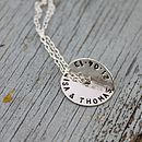 Personalised Rolled Circle Necklace