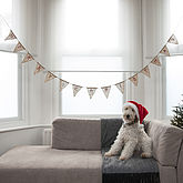 Vintage Style Merry Christmas Hessian Bunting - christmas decorations