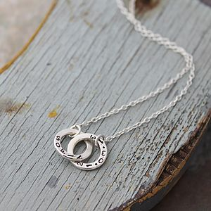 Personalised Double Hoop Necklace - necklaces & pendants