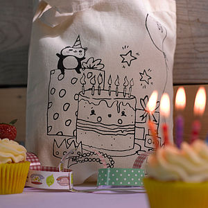 Birthday Party Design Colour In Tote Bag
