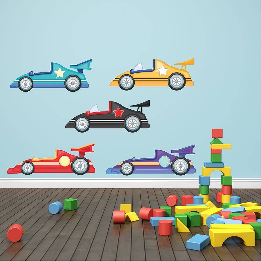 Racing Cars Wall Stickers By Mirrorin Notonthehighstreet Com
