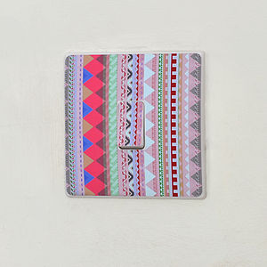Patterned Light Switch Sticker - bedroom