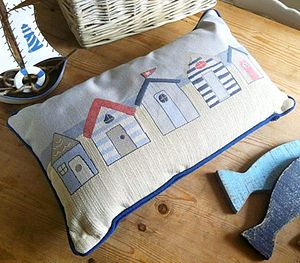 Beach Hut Theme Cushion - cushions