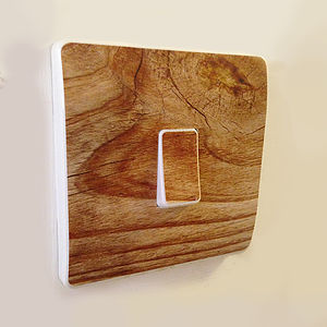 Wood Effect Light Switch Covers - bedroom