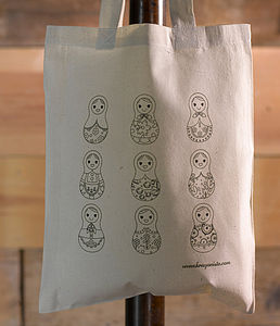 Russian Dolls Colour In Tote Bag - bags, purses & wallets