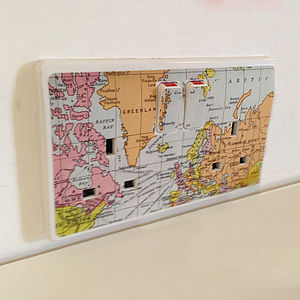 'Map Plug Socket Sticker' - wall stickers