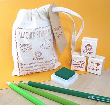 Teacher Rubber Stamp Gift Set