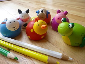 Animal Pencil Sharpeners - writing