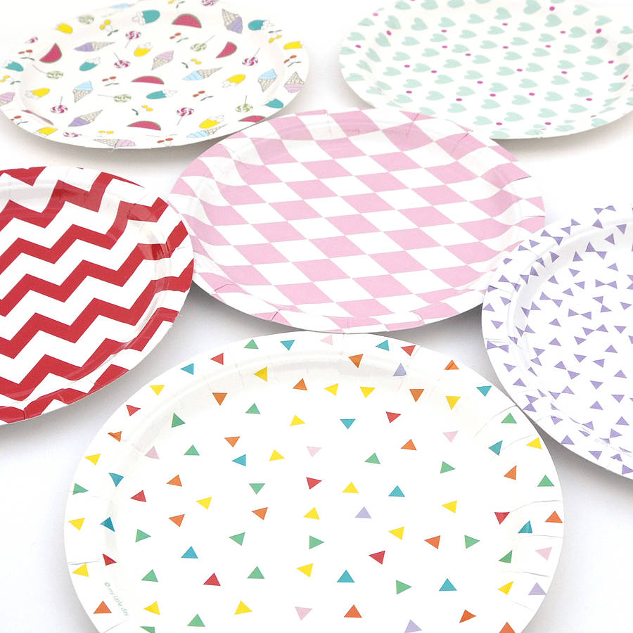 Set Of Eight Paper Plates By Peach Blossom