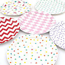 Set Of Eight Paper Plates