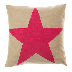Star Cushion - living room