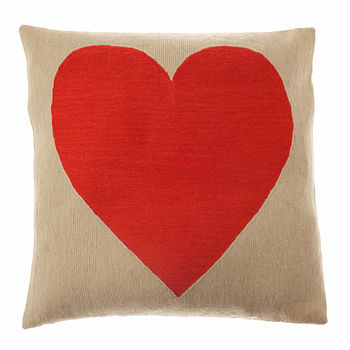 Heart Cushion Red