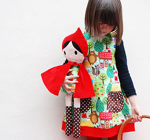 Red Riding Hood Handmade Doll - soft toys & dolls