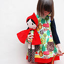 Thumb red riding hood handmade doll