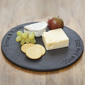 Personalised Slate British Round Board - cheese boards & knives