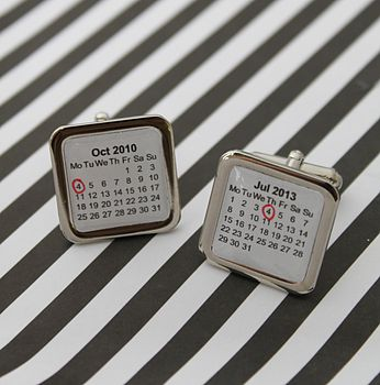 Personalised Calendar Cufflinks