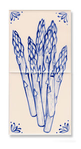 Fish Or Asparagus Wall Tile Kit