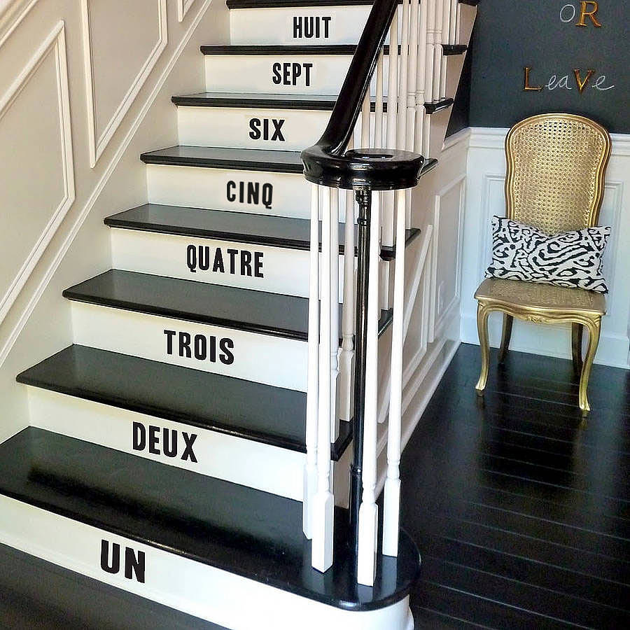 stair number stickers by oakdene designs. Black Bedroom Furniture Sets. Home Design Ideas