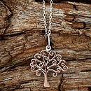 Rose Gold Tree Necklace