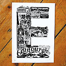 Best Of Edinburgh Screenprint