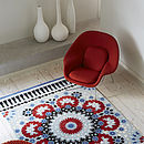 Nomadic Blue And Red Patterned Rug