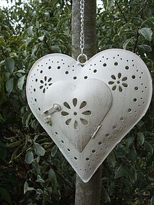 Heart Hanging Lantern - candles & candlesticks