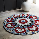 Nomadic Blue And Red Circular Patterned Rug
