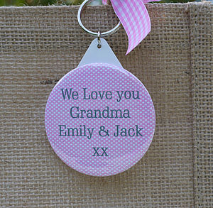 Personalised Badge Or Keyring - message token favours