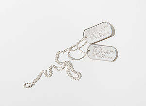 Personalised Silver Dog Tag Necklace - necklaces