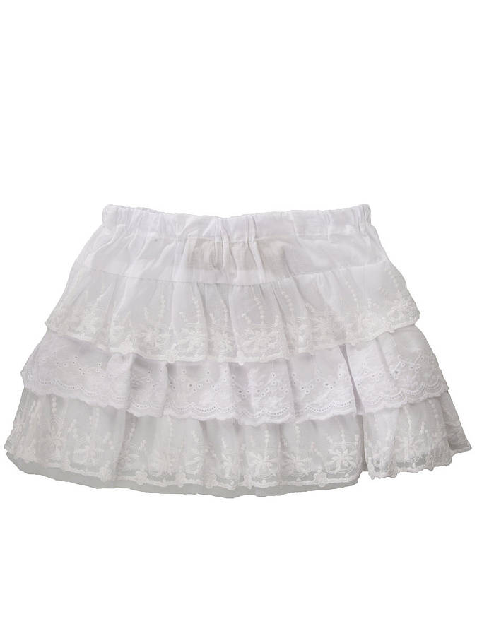 Mupine White Tutu Tulle Skirt