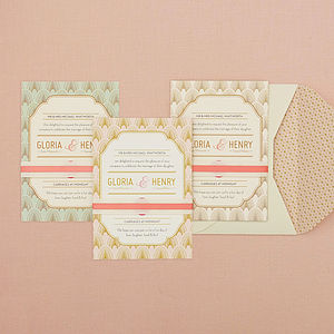 Decodence Wedding Invitation Set - macaron-inspired styling