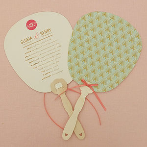 Decodence Orders Of Service - wedding stationery