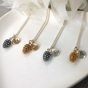 Personalised Pine Cone Necklace
