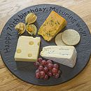 Personalised Slate British Round Board