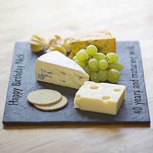Personalised Slate British Cheese Board - rustic dining