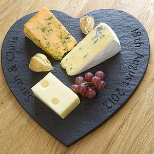Personalised Slate Heart Board - wedding gifts