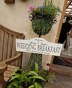 Large Hanging Vintage Wedding Sign - decorative accessories