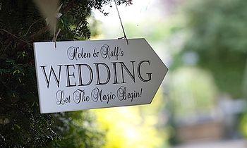 Large Personalised Vintage Wedding Arrow