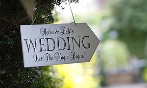 Large Personalised Vintage Wedding Arrow - outdoor decorations