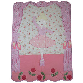 Personalised Girls Ballerina Quilt
