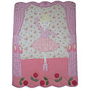 Personalised Girls Ballerina Quilt & Toy Bag
